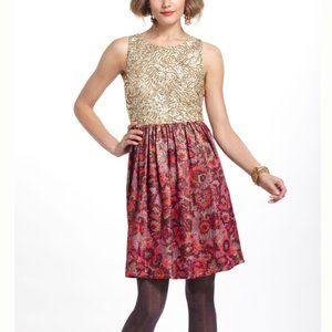 Wren Sequined Jacquard Party Dress